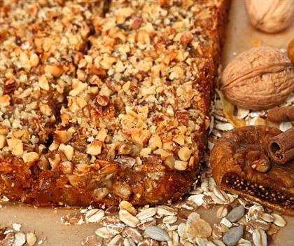 Геркулесовый пирог с сухофруктами
