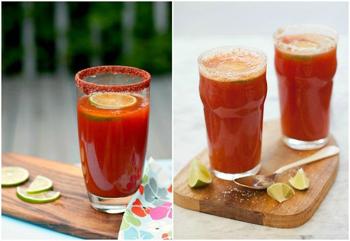 Мичелада, пивной коктейль с томатным соком
